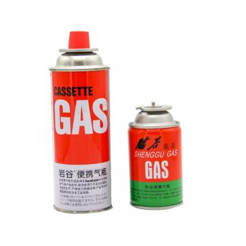 Round Shape Portable Butane gas canister BBQ Fuel Cartridge