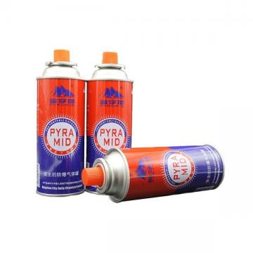 High Performance Cassette Butane Gas Cylinder and disposable butane gas made