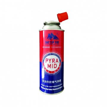 Portable butane gas cartridge and butane gas canister for camp stove